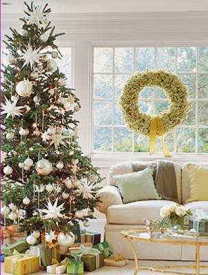 Christmas Decorations - Traditional Living Room