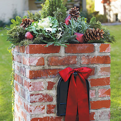 Outdoor Christmas Decorations for Pillar