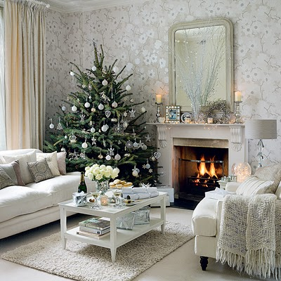 Traditional Christmas Decor - Living ROom