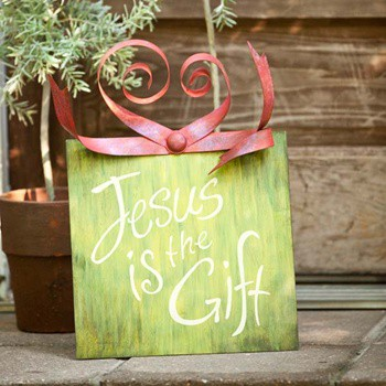 Christmas Decor in Words - Jesus is the Gift