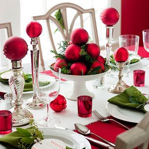 Christmas Table Decoration s- Red Balls