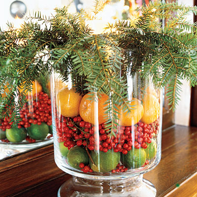 Christmas Table Decorations - Vase