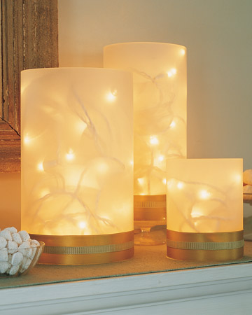DIY Christmas Decor - Luminaries Vase