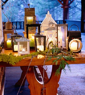 Outdoor Christmas Decor Ideas - Lighted Houses