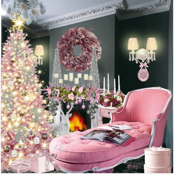 pink christmas decor - Pink Christmas Decorations